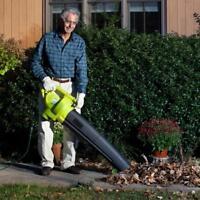 Sun Joe 3-In-1 Electric Blower Vacuum & Leaf Shredder   Certified Refurbished