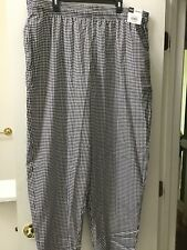 Chef Uniforms Mens Baggy Houndstooth Pants Size 2X Larrge. New With Tags