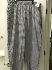 Chef Uniforms Mens Baggy Houndstooth Pants Size 2xl New With Tags