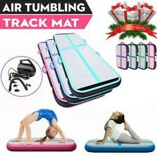 3.3/10/13/16/20Ft Air Mat Track Floor Inflatable Gymnastics Tumbling Mat w/Pump