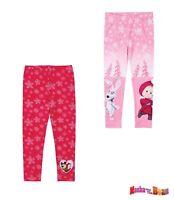 Mädchen Leggings Leggins Hose Mascha und der Bär rosa rot 98 104 110 116 128#710