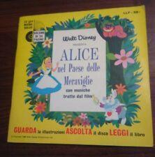 Walt Disney GUARDA-ASCOLTA-LEGGI -ALICE NEL PAESE DELLE MERAVIGLIE-Libro e disco