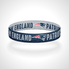 Reversible New England Patriots Bracelet Wristband Go Pats Still Here