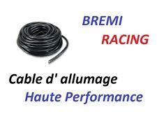 CABLE FIL DE BOUGIE ALLUMAGE SILICONE NOIR RACING  AU METRE Seat
