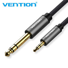 """3.5mm 1/8"""" Male to 6.35mm 1/4"""" Male TRS Stereo Audio Cable Nylon Braided Cord"""
