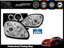 FARI ANTERIORI HEADLIGHTS LPMEB0 MERCEDES R170 SLK 1996-2003 2004 ANGEL EYES