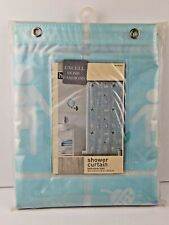 Excell Home Vinyl Eva Shower Curtain Bathroom Tiles Mulit-Colored