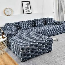Elastic Sofa Cover Cotton 2 Pieces Covers For Corner Sectional Sofa Living Room
