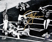 Lawrence Taylor Signed New York Giants Super Bowl XXI Safety B&W 8x10 Photo - SS