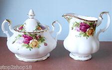 Royal Albert Old Country Roses Sugar Bowl & Creamer New