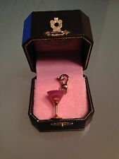 JUICY COUTURE rare Gold / Pink Martini glass charm  YJRU1218