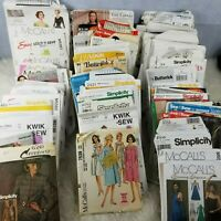 Huge Lot 94 Sewing Patterns McCalls, Simplicity, Butterick Vintage Modern