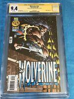 Wolverine #102 - Marvel - CGC SS 9.4 NM - Signed by Adam Kubert, Larry Hama