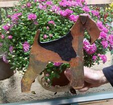 Airedale Terrier Dog Steel Metal Art Fence Topper Figure Display Welsh Lakeland