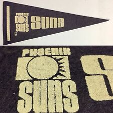 1970s Vintage Phoenix Suns Arizona Basketball NBA Mini Pennant 4x9.75