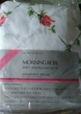 Sears Vintage Morning Rose Full Size Sheet Set with Pillowcases New Old Stock