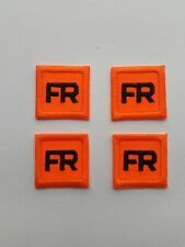 4 - Replacement FR Patches Iron On - Fire Retardant Pants Shirt Jacket Tag