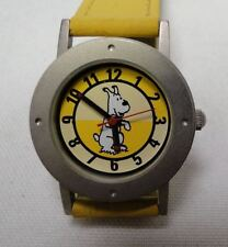 Tintin just Snowy watch ladies/child yellow in decorative tin year 2000 #6