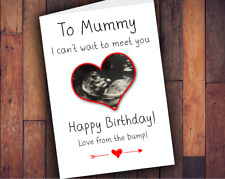 From The Bump Birthday Card Mum Mummy to be CHEAPEST!WITH OWN SCAN PIC