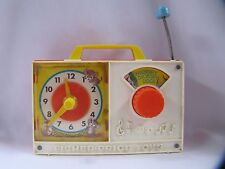 Fisher Price Hickory Dickory Dock #107 Wind Up Toy Musical Clock Vintage 1971