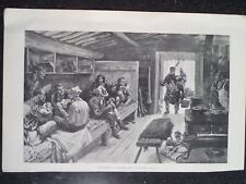 Thanksgiving Christmas A Holiday In A Logging Camp Harper's Weekly 1898