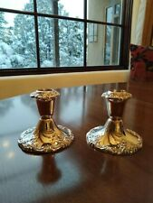 Vintage Baroque by Wallace Heavy Candle Holders 750 Silversmiths