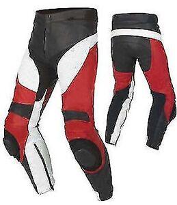 Motorbike/Motorcycle Black/Red/white Leather Racing Pant/Trouser-MotoGp