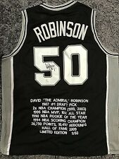 David Robinson Signed Custom Spurs Stat Jersey #50 (JSA WItnessed)