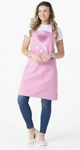 Life is Good 100% Cotton Apron H220924 ~ Happy Pink One Size
