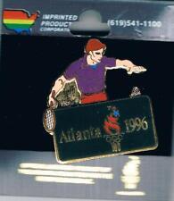 1996 Atlanta Limited Edition Large Semi-Cloisonne Olympic Badminton Sports Pin