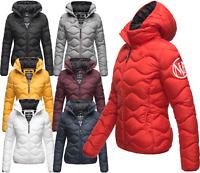 Navahoo Damen  Winter Jacke FVS3 Steppjacke Parka Bomberjacke gesteppt Kapuze
