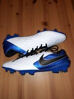 Nike Tiempo Legend 8 Elite FG Soccer Cleats AT5293-104 Blue White Men's Size 12