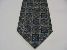 WOODWARD - GEOMETRIC PATTERNED - VINTAGE - MADE IN USA - ALL SILK NECK TIE