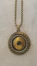 Fits Ginger Snap Pendant Necklace  Interchangeable Jewelry Bronze gold w/bag USA