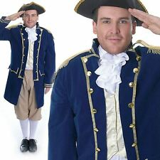 Adult Mens Royal Navy Admiral Commander Military Uniform Fancy Dress Costume New