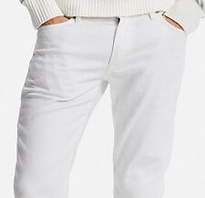 UNIQLO Men's Skinny Fit Tapered Jeans White 31W x 34L Stretch Denim Pants NWT