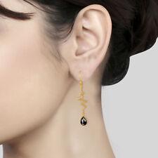 Handmade Heartbeat Designer 925 Silver Hematite Dangle Earrings Jewelry