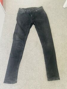 Nudie Jeans Skinny Lin fit, black, size W30 L32. In superb condition.