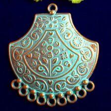 4pcs 50x45x2mm Carved Brass Bronze Flower Connector Pendant Bead M15491