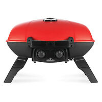 Napoleon TravelQ 285 Portable Durable Compact Outdoor Propane Gas Grill, Red