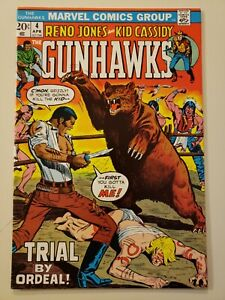 Gunhawks #4. Marvel. April 1973. VF/NM 9.0 or HIGHER! Off White Pages.