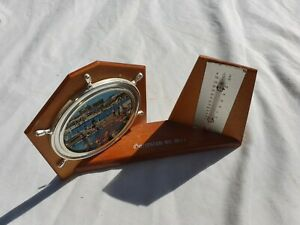Vintage Ships Wheel frame and Thermometer Gorleston On Sea In Good Condition