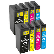8 CHIPPED INK CARTRIDGES FOR LEXMARK 100XL Impact S305 Interpret S405 PRINTER