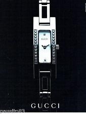 PUBLICITE ADVERTISING 026  2002  Gucci  collection montre