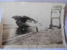 PHOTO PERSONNELLE PORTE-AVIONS DIXMUDE 1946 AERONAVALE INDOCHINE MARINE