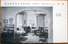 1940s Sackville, New Brunswick/NB Postcard: Marshlands Inn - Canada