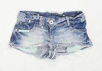 Womens River Island Blue Denim Shorts Size 6/