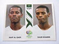Sticker PANINI Fifa World Cup GERMANY 2006 N°591 Saudi Arabia Al Qadi Khariri