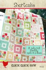 SHORTCAKE Moda CLUCK CLUCK SEW Jelly Roll Friendly QUILT PATTERN 3 sizes