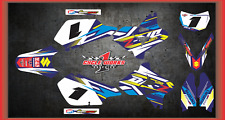 Suzuki DRZ400 DRZ 400 SUPERMOTO  SEMI CUSTOM GRAPHICS KIT BLACK PAVI
